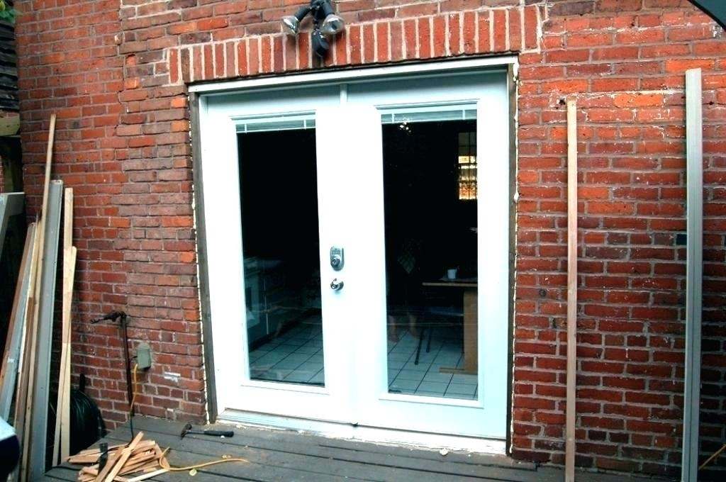 Newly installed doors