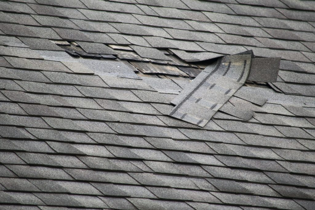 shingles falling off the roof