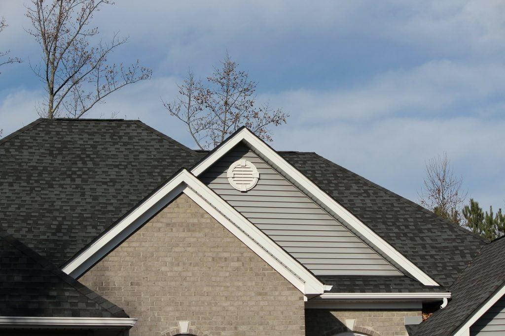 black shingle roof